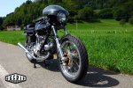 Ducati 750 GT 1972 Café Racer IMOLA - couple conique